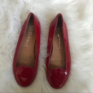 Jeffrey Campbell red slip on flats